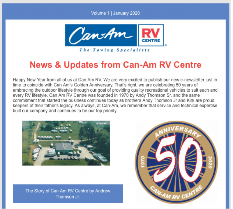 Stay in the loop with The Can-RV Centre Newsletter